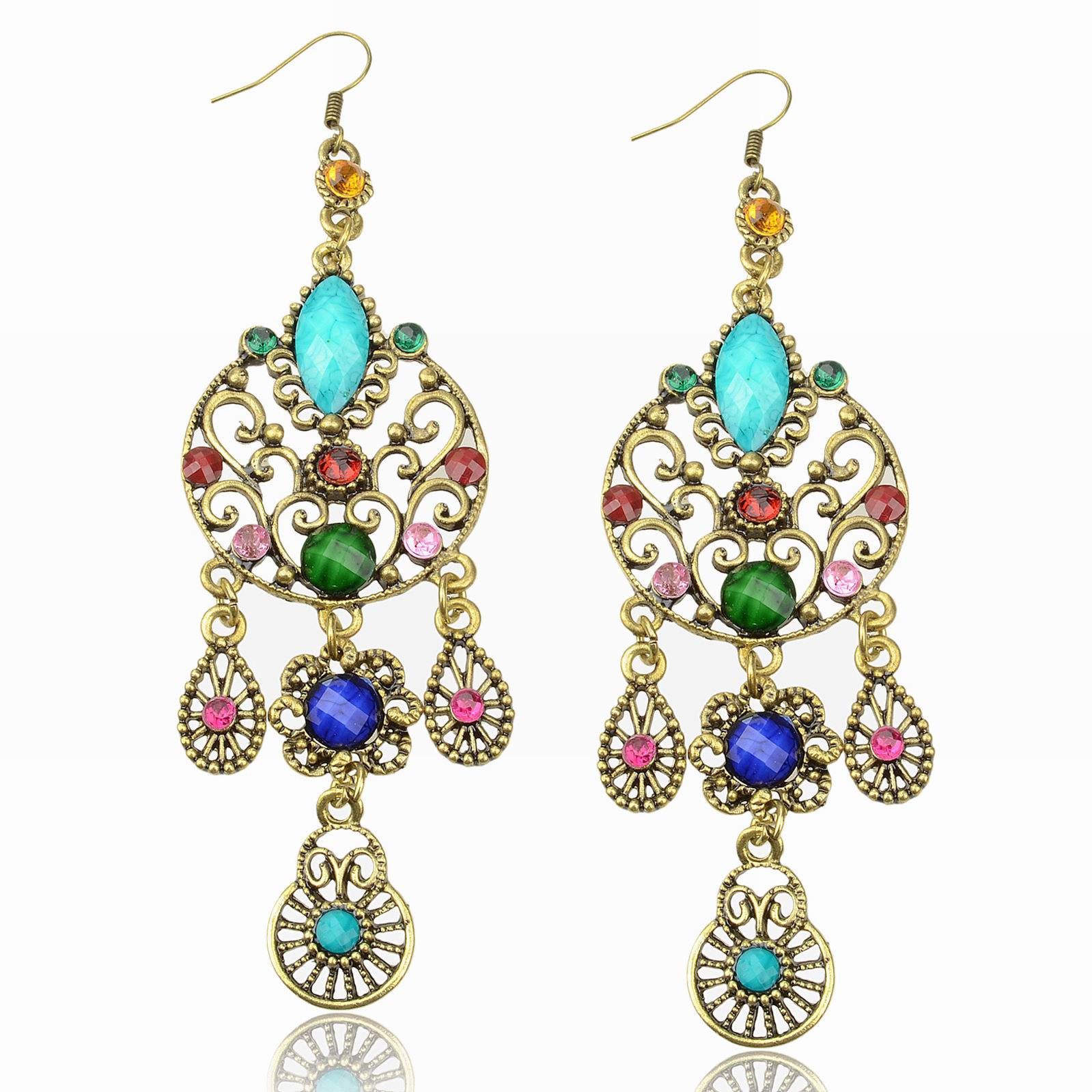colored gold u in with stones buy matte earrings arella inverted picture of multi